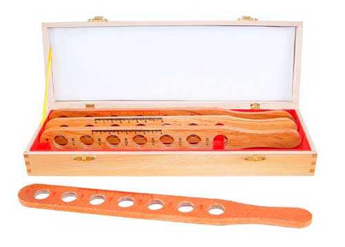 Retinoscope Rack in Wooden Case and Wooden Strip